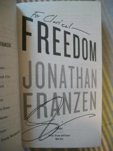 "Meu exemplar de ""Freedom""."