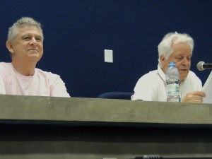 Humberto Werneck e Ivan Angelo (Foto de Isabela Benassi)