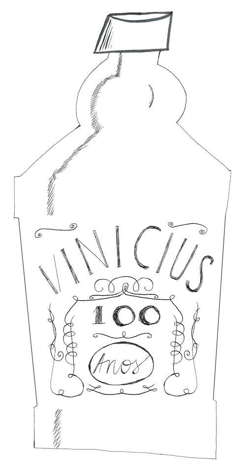 Ilustração do João Silva para o centenário de Vinicius