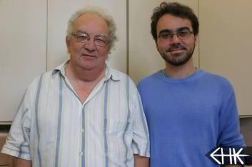 Com Alcides Villaça. Foto por Bernardo Ceccantini.